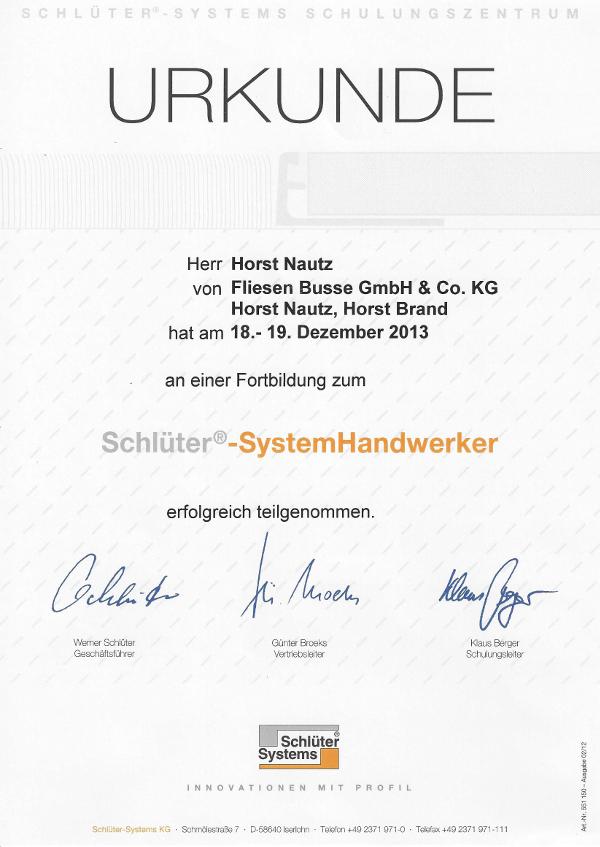 Schlüter Urkunde